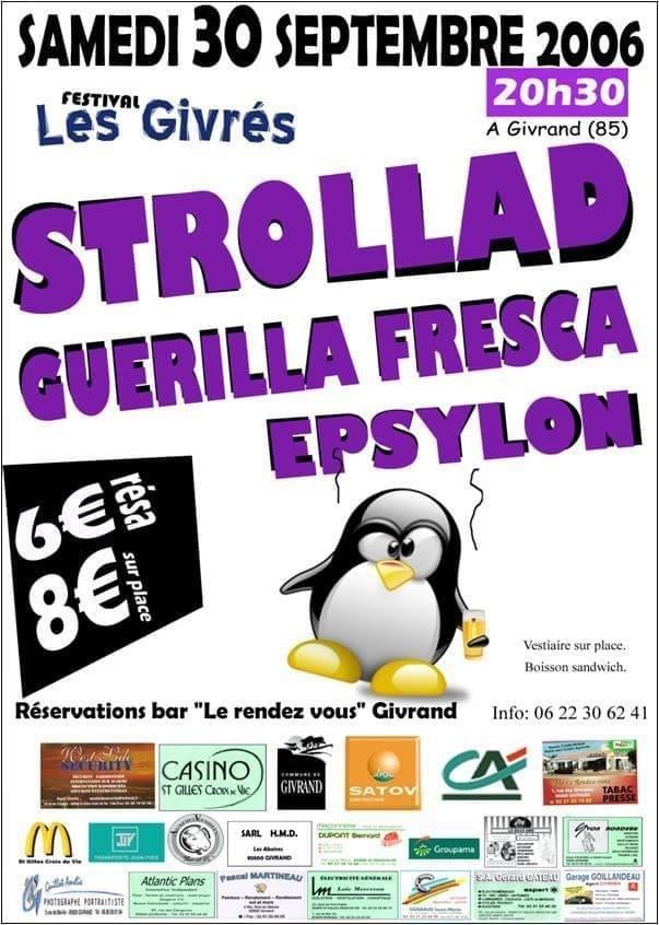 Affiche Festival Les Givrés 2006 - Givrand