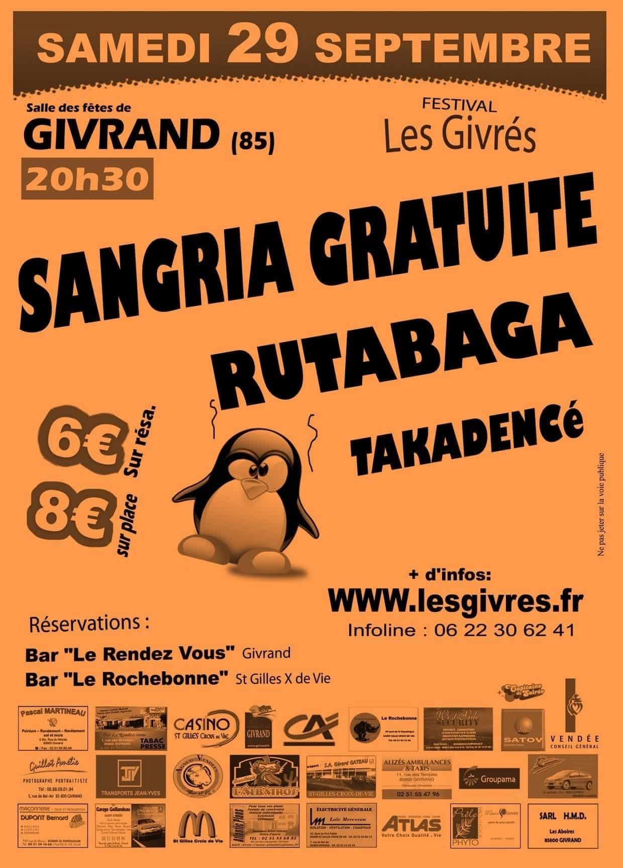 Affiche Festival Les Givrés 2007 - Givrand