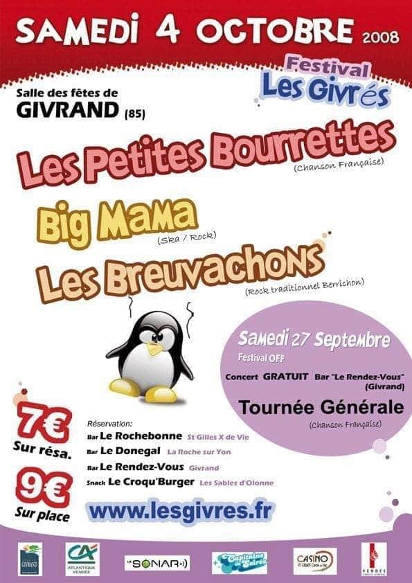 Affiche Festival Les Givrés 2008 - Givrand