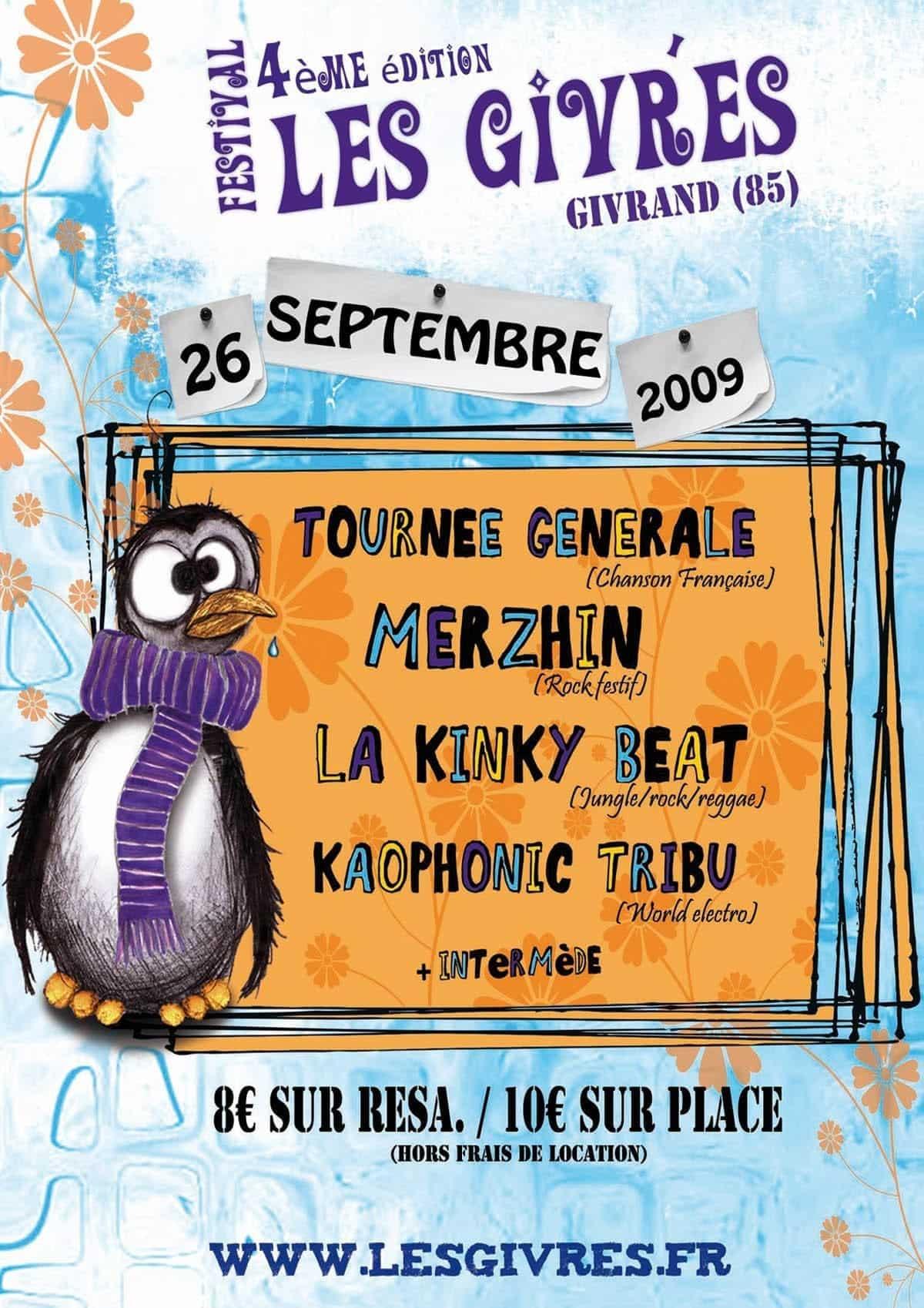 Affiche Festival Les Givrés 2009 - Givrand
