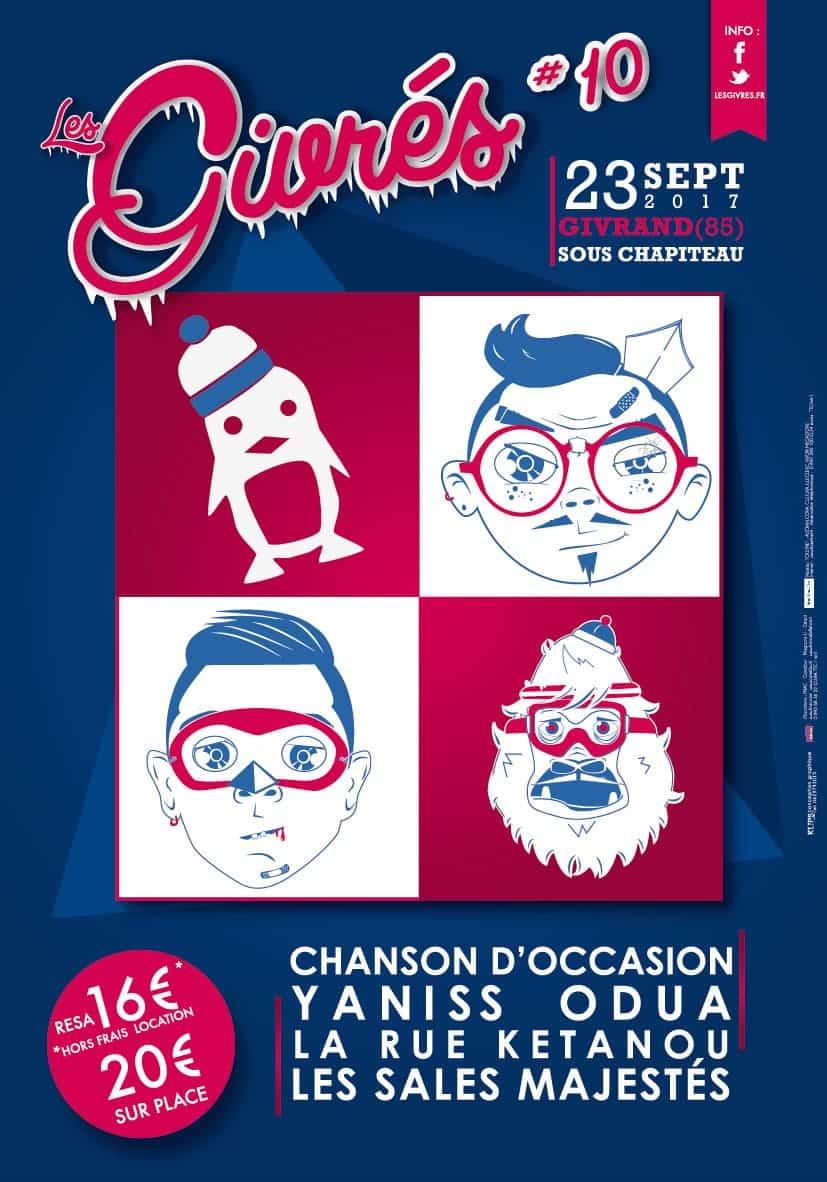 Affiche Festival Les Givrés 2017 - Givrand