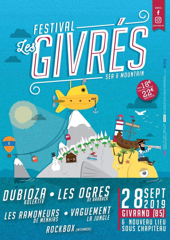 Affiche Festival Les Givrés 2019 - Givrand